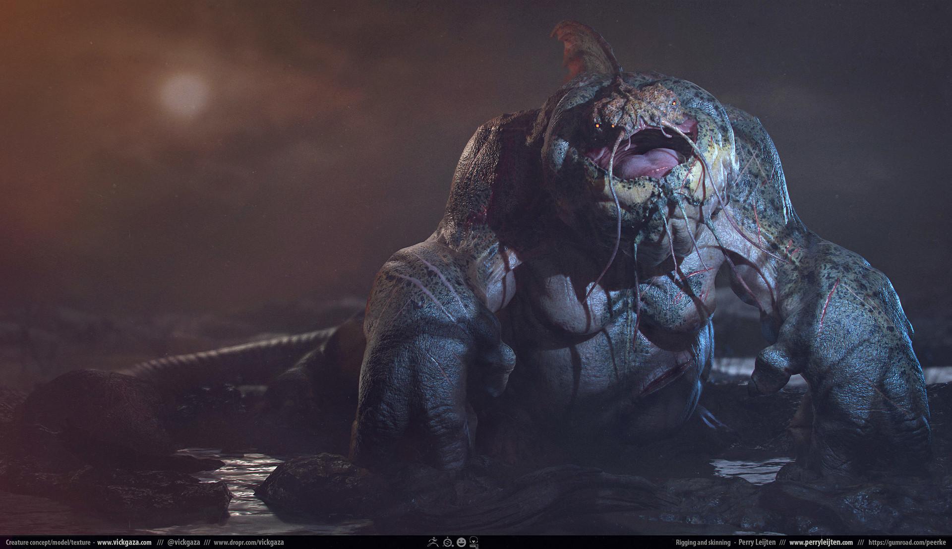 3D Printed Blurgha - The Beast by vickgaza | Pinshape