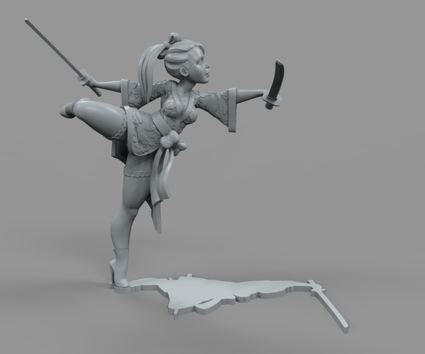 Medium Galina Katana 3D Printing 131692