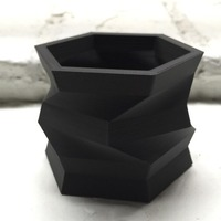 Small Twisted Hexagon Vessel 3D Printing 131695