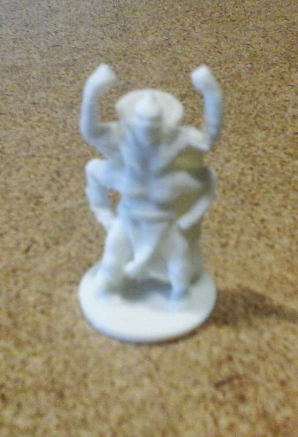 Medium 4 Armed Fighter King Mini 3D Printing 13173