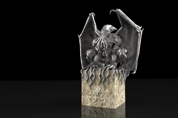 Cthulu bookend 3D Print 131879