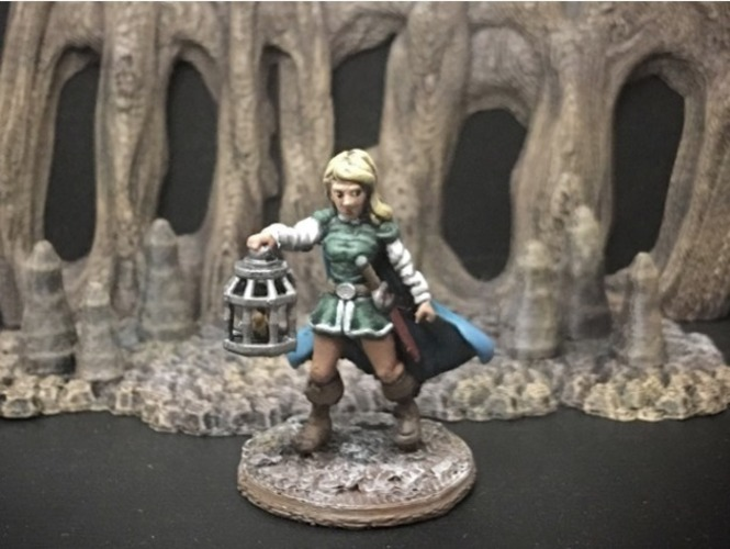 Wenda, Novice Adventurer (28mm/Heroic scale) 3D Print 131881