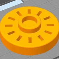 Small USB Drive Holder - Round 3D Printing 131975