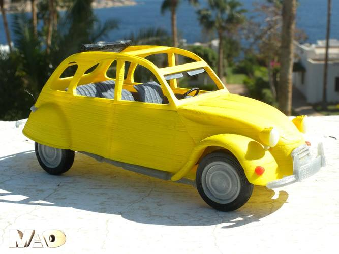 Small French Car Model 3D Print 13207