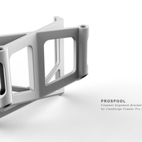 Small Flashforge Creator Pro 2016 PROSPOOL Filament Alignment Bracket 3D Printing 132078