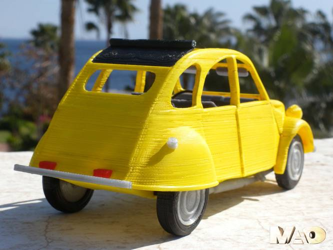 Small French Car Model 3D Print 13209