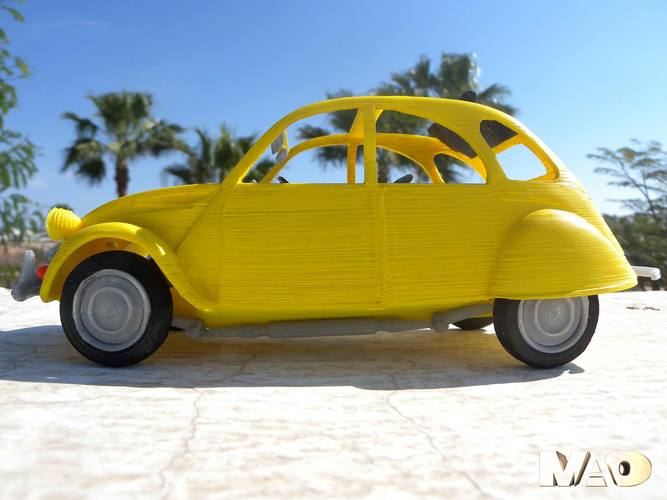 Small French Car Model 3D Print 13210