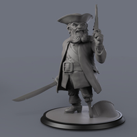 Small Black Beard 3D Printing 132130