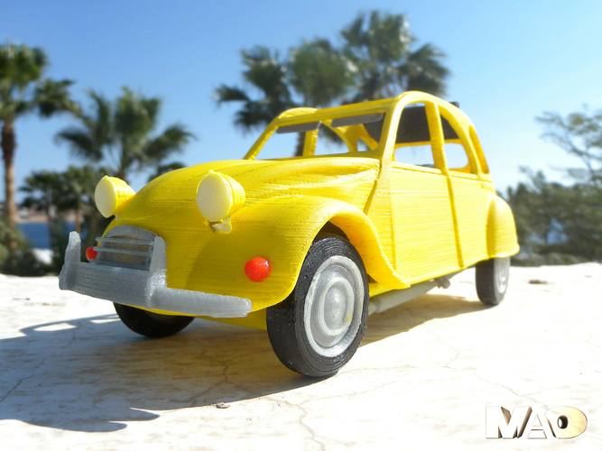Small French Car Model 3D Print 13217