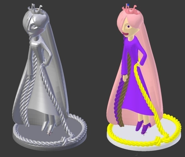 Kid Drawing to 3D model - Princess Kyera 3D Print 132198