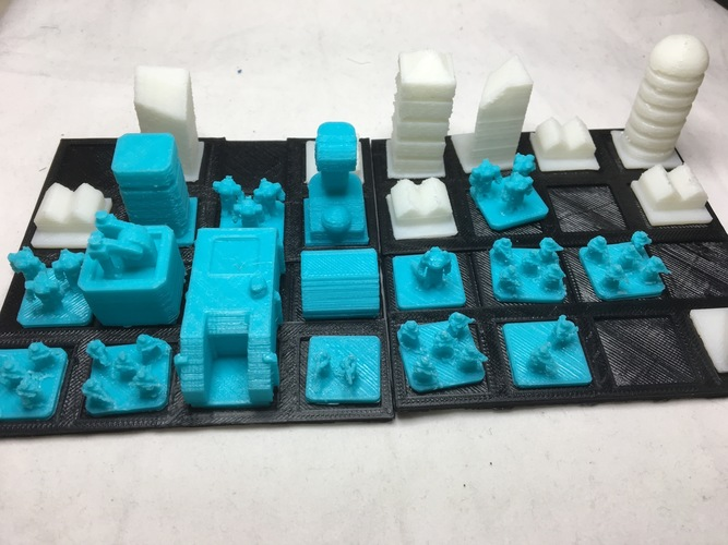 3D Printed Wild Spaces Base Builder Game- PGRC forces (Beta