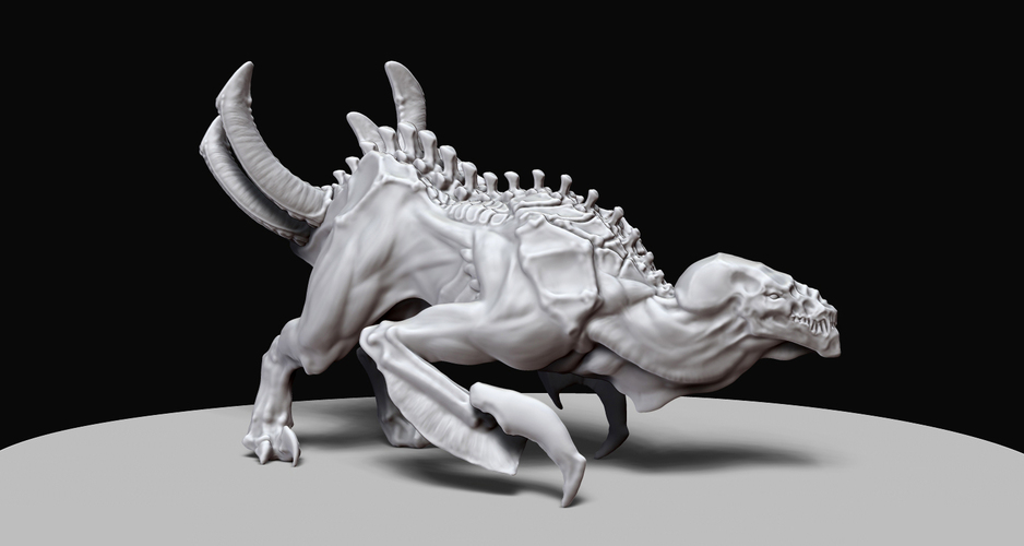 Diablosaurus Hex - Demon Space Dinosaur from Planet Hell 3D Print 132280