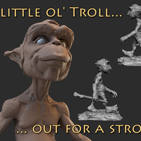 Small A little ol' Troll 3D Printing 132403