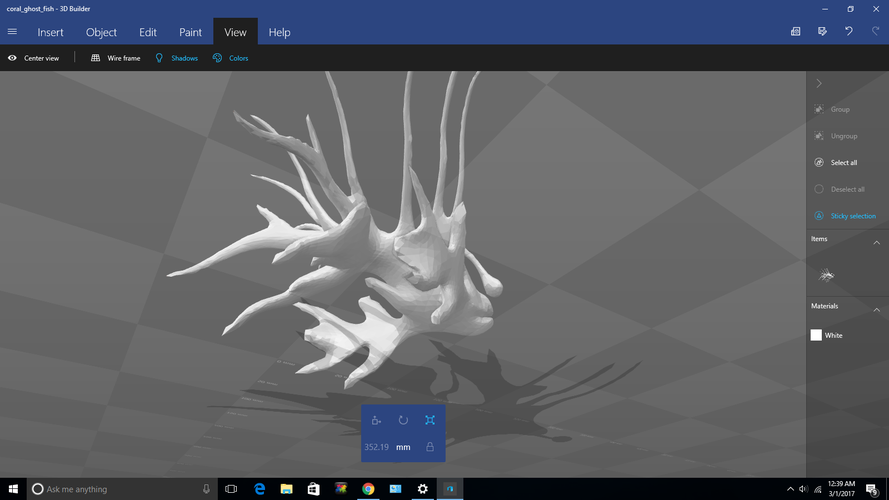 Coal Ghost Lion Fish 3D Print 132551