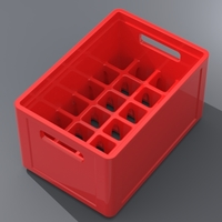 Small 1/18 Beer Crate 3D Printing 132894