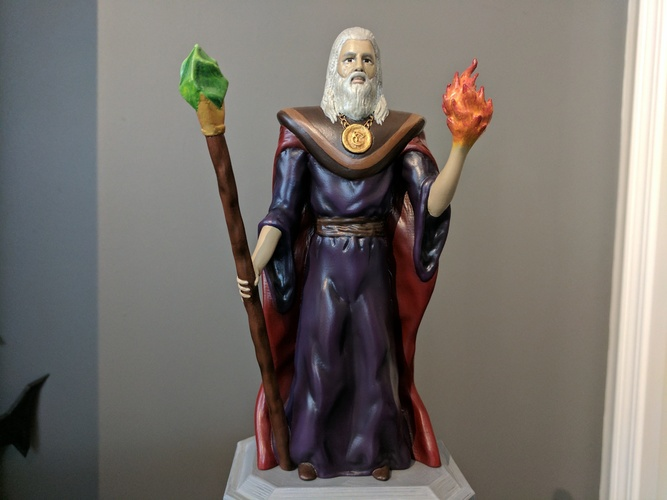 Lord Kavra - Prints With No Supports! - Original Mage Character 3D Print 132898
