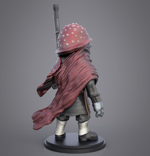 Red The Mushroom Soldier 3D Print 133007
