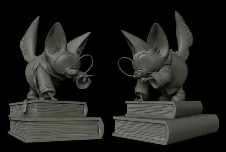 Finn, the investigative fennec fox. 3D Print 133074