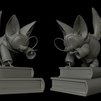 Small Finn, the investigative fennec fox. 3D Printing 133074