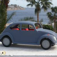 Small Small German Car Model 3D Printing 13323