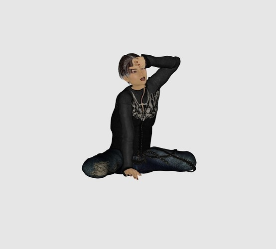 contemplatively girl 3D Print 133288