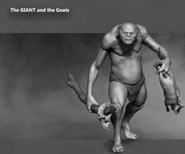 The Giant and the goats 3D Print 133390