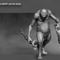 Small The Giant and the goats 3D Printing 133390