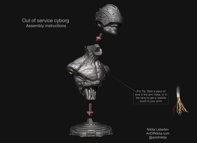 Out of service cyborg 3D Print 133404