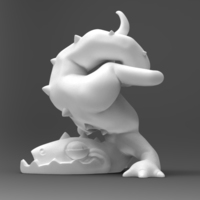 Small Clumsy Dragon 3D Printing 133445