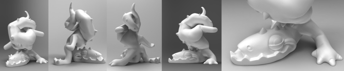 Clumsy Dragon 3D Print 133446