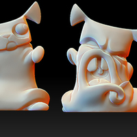 Small Pug Monster Pet 3D Printing 133450