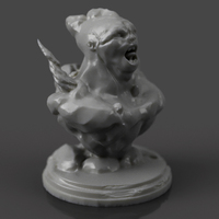 Small Mountain Troll 3D Printing 133463