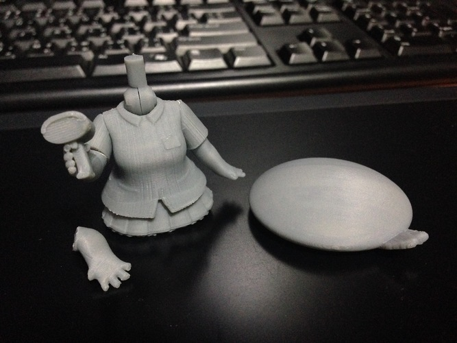 Chibi Conbini Girl Set 3Dprint Data 3D Print 133632