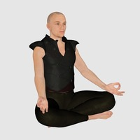 Small Meditation Male 3D Printing 133693