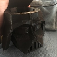 Small Low Poly Vader Dice Container 3D Printing 133703