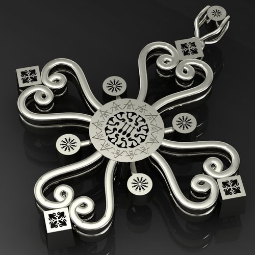 Aegean Filigree Pendant Cross 3D Print 133711