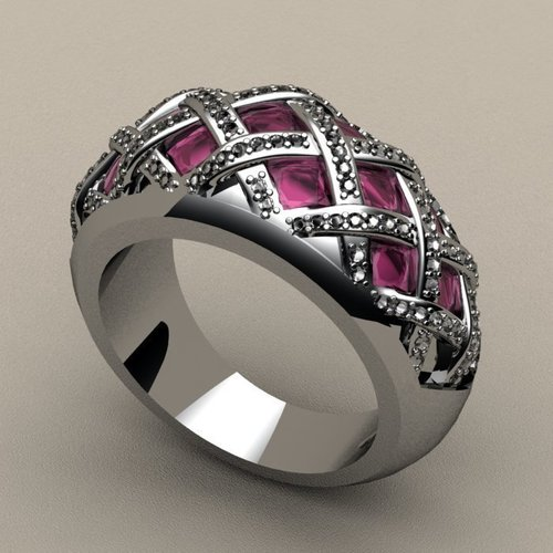 Criss Cross Fashion Ring 3D Print 133720