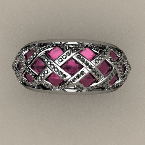 Criss Cross Fashion Ring 3D Print 133721