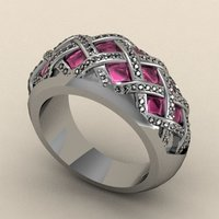 Small Criss Cross Fashion Ring 3D Printing 133723