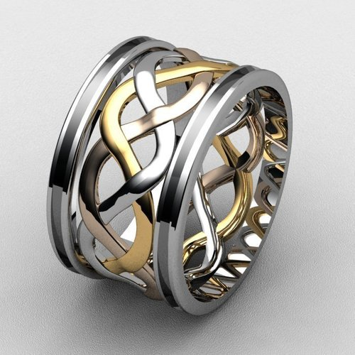 Attia Weave Fashion Ring  3D Print 133724