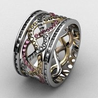Small Attia Weave Fashion Ring  3D Printing 133725