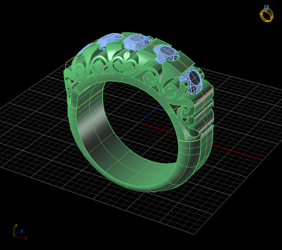 Fashion Bridged Ring 3D Print 133729