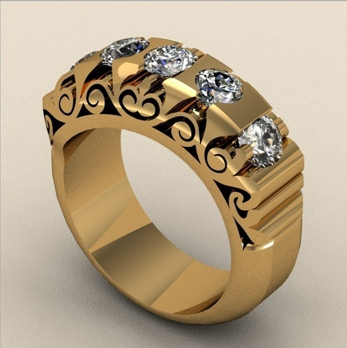 Fashion Bridged Ring 3D Print 133731