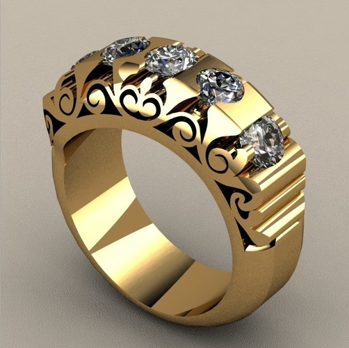 Fashion Bridged Ring 3D Print 133732