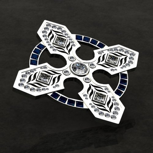 Celtic Cross Pin/Brooch 3D Print 133733