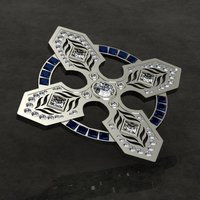 Small Celtic Cross Pin/Brooch 3D Printing 133734