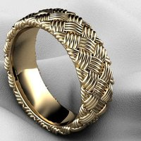 Small Celtic Weave Ring​ 3D Printing 133735