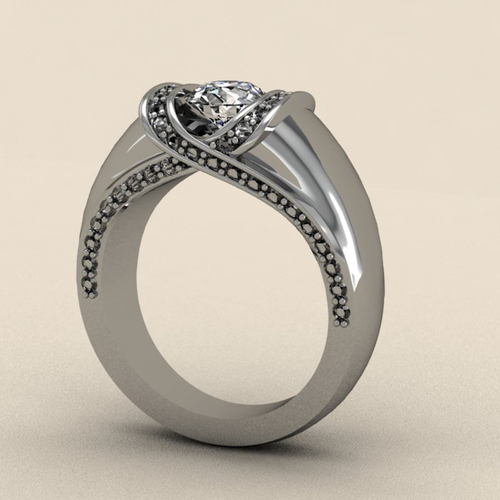 Criss Cross Fashion Ring 2 3D Print 133738