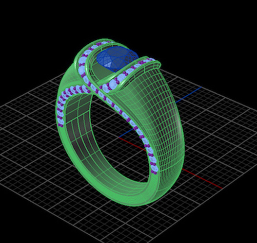 Criss Cross Fashion Ring 2 3D Print 133739