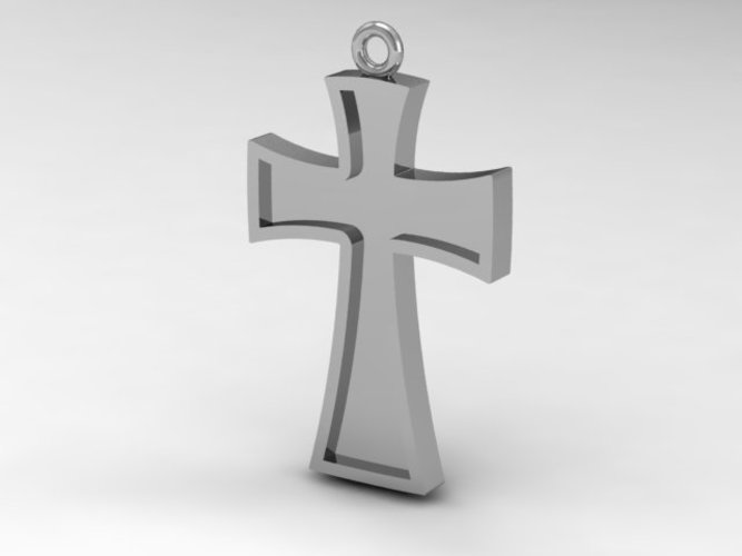 3d printed catholiccatholic cross pendant by akkadia pinshape catholiccatholic cross pendant 3d print 133742 mozeypictures Image collections